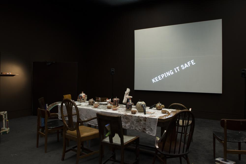 Installation view of Wantee in Schwitters in Britian, 2013 at Tate Britian, London
